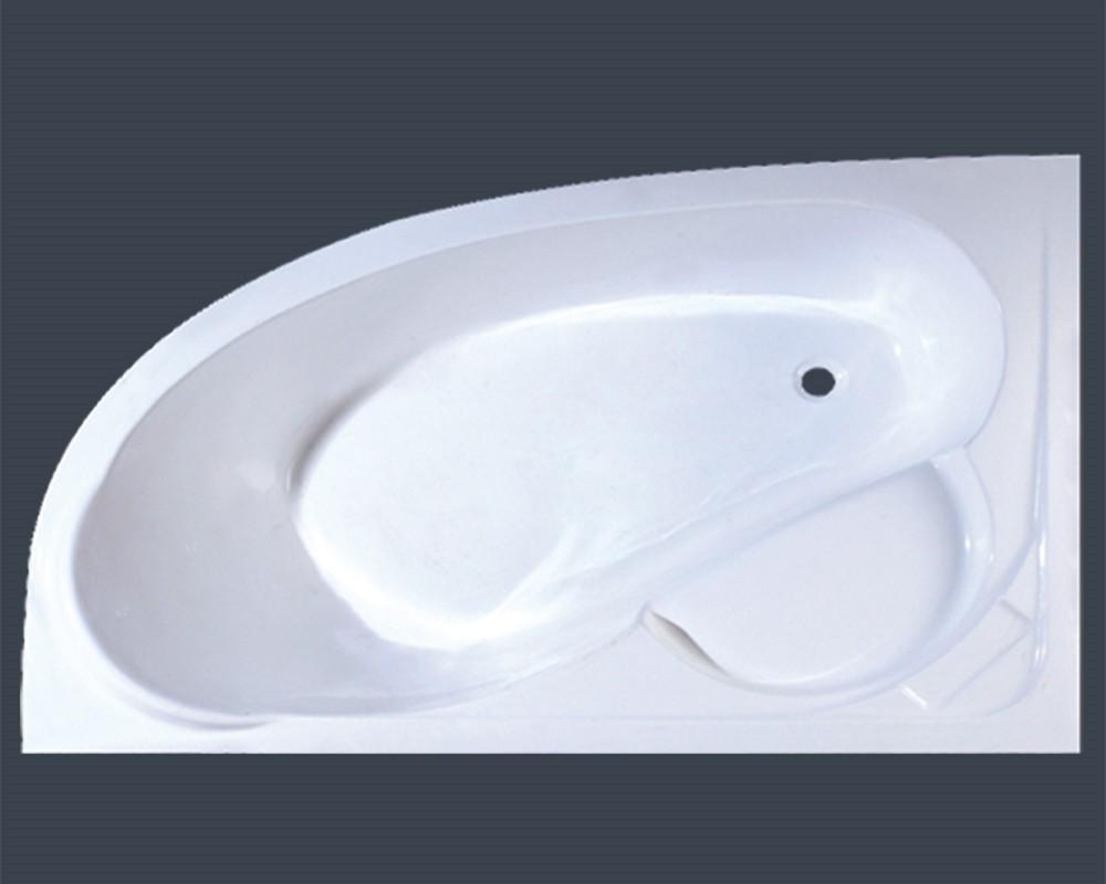 Modified triangular drop in plastic bathtub with anti slipg