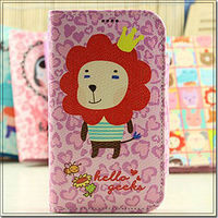 Fashion for Samsung Galaxy S4 i9500 Beautiful Girl Design Leather case cover