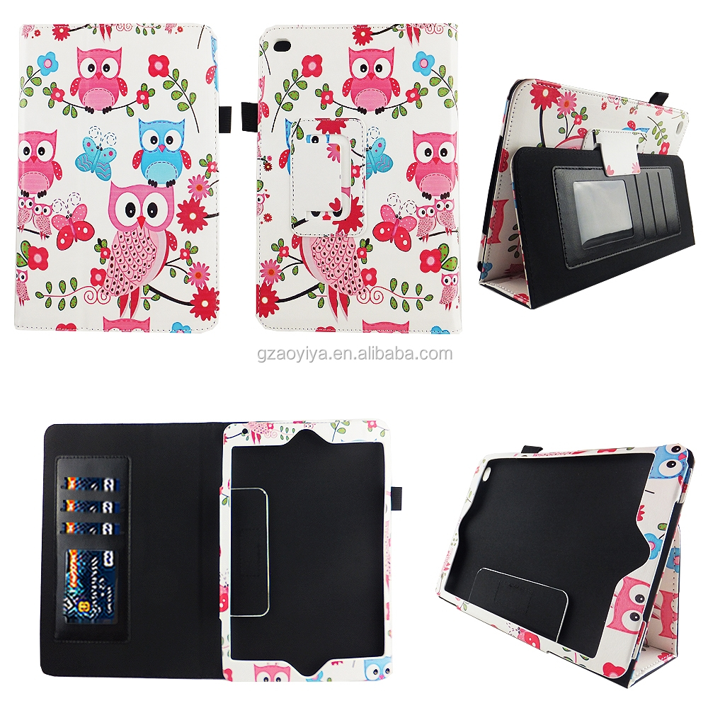 7.9'' Owls HD Design Flip Leather Case for iPad Mini 4 (1/2/3) with Auto Wake and Sleep Function
