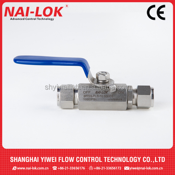 Mini Ball Valve Connecting with Compression Tube Fittings