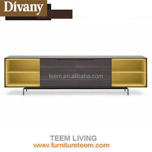 DIVANY led modern wooden tv cabinet designs living room furniture TV stand