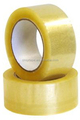 transparent yellowish clear carton sealing tape with many thickness width