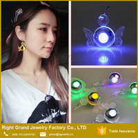 Angle wing Sparkle Light Up LED Hook Dangle Earrings
