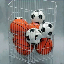 Practical Rolling Free-standing Metal Wire Basket For Ball