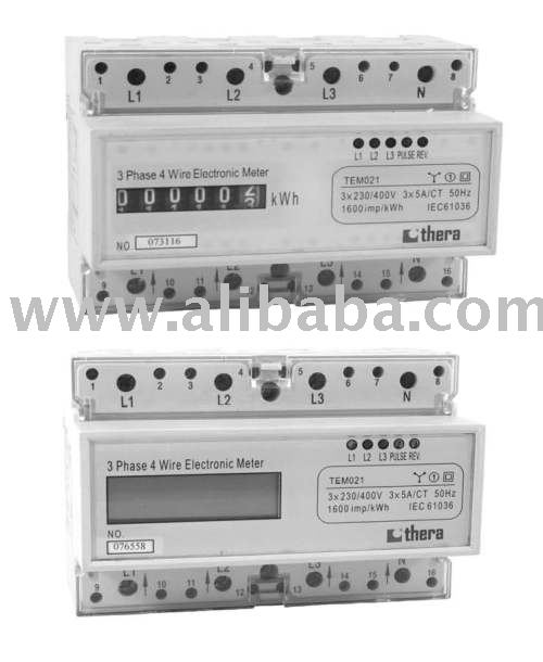 3-Phase DIN-rail Electronic(Digital) kWh Meter