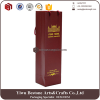 Shopping wine paper carrier bag with company logo
