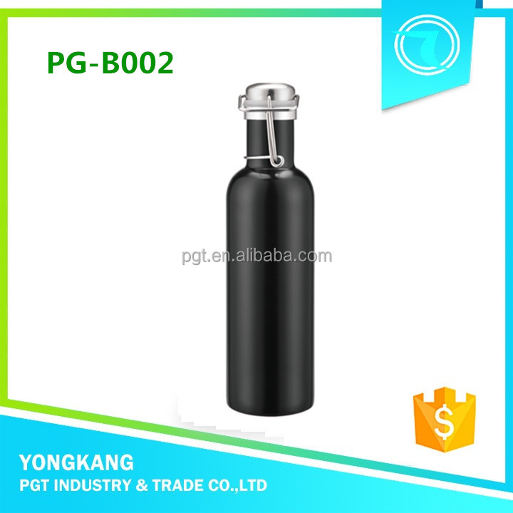 Hot PG-B002 decorative cup hooks matte black wine bottle olive oil stainless steel container