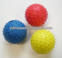 2014 new strong squeaky rubber ball dog toys