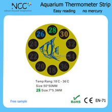 reusable strip aquarium thermometer with self adhesive sticker and liquid crystal display