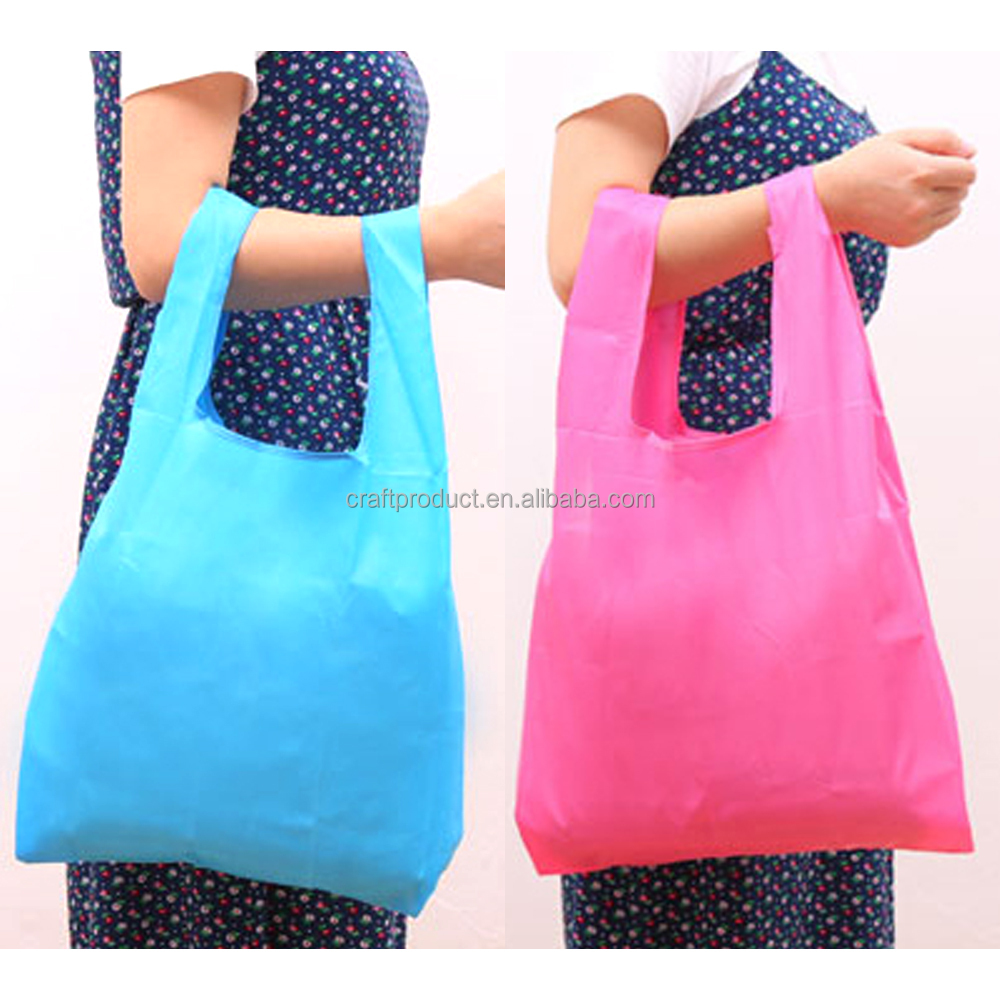 Expandable Several Patterns Handy Shopping Bag Reusable Grocery Tote Bags Convenient Foldable Polyester Bag For Women