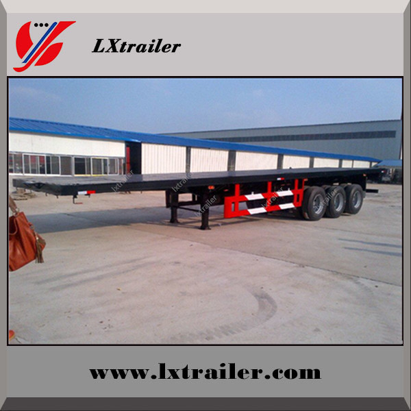 40ft 20ft plat form flat bed container tow trailer / shipping container truck semi trailer 40 ton 50 ton 60