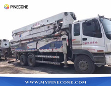 Zoomlion 37M used truck mounted concrete pump for sale with ISUZU truck