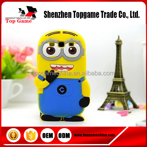 3D Despicable Me 2 Minions Soft Silicone phone Cover Case For Samsung Galaxy Win i8552 Case