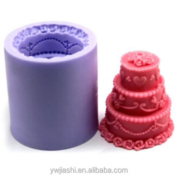 Birthday cake Shaped Silicone Candle Molds/Mold Making Candles