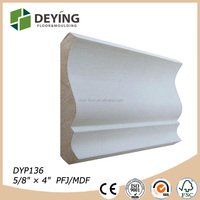 Decorative Gesso Coated Wood Wall Ceiling Crown molding