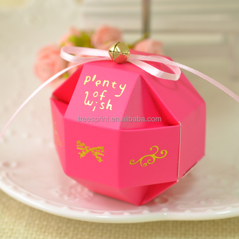 China new idea DIY decoration wedding packaging fancy sweet candy gift chocolate box