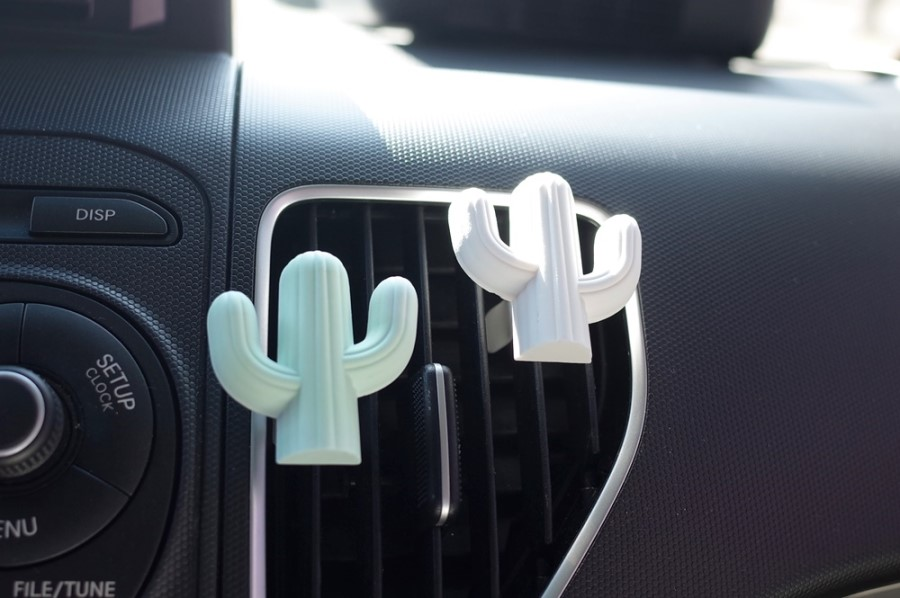 lovely cactus shaped auto car vent clip air freshener scented gypsum ceramic car air freshener clip