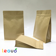 New design food grade brown packaging kraft paper coffee bag made in china