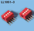 2.54mm red 90 degree dip switch