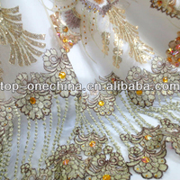 New fashion african sequins fabric french lace fabric for 2015