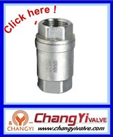 Stainless steel female threaded end check valve,vertical check valve 1000WOG