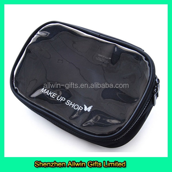 Wholesale convenient mini clear vinyl cosmetic bag