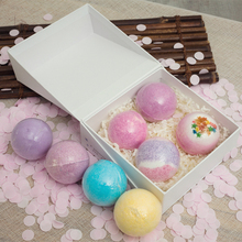 Customized handmade bath bomb gift set natural