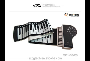 2016 silicone roll up foldable fashionable waterproof piano
