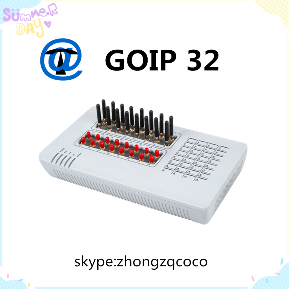 GoIP-32 is a 32 SIM Card Highly stable embedded Linux operating system in high performance ARM 9 Processor