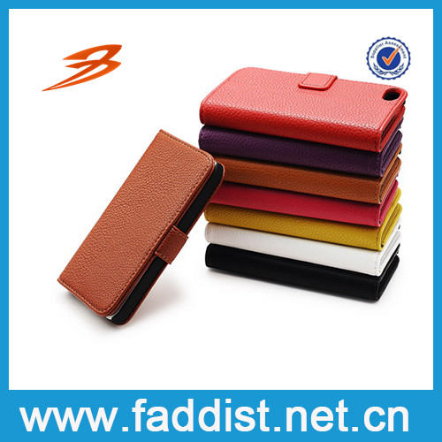 High quality PU Leather case for iphone5 case with stand