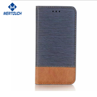 Phone case 2017 for iphone X Business wallet-style stand PU leather cases with 2 card slot Photo Frame carsh cases Blue