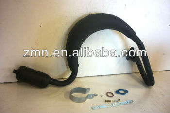 Expansion Chamber muffler, Exhaust, Spare Parts of Bicycle Engine Kit