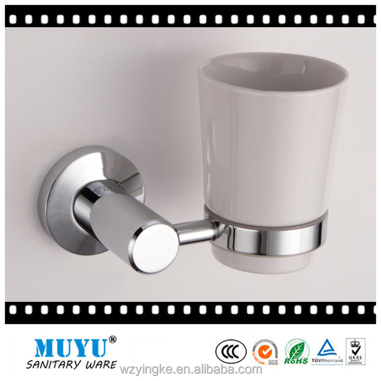wholesale aluminum chrome plating tumbler holder, tooth brush single cup holders