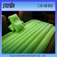multi color flocked car air bed for most cars
