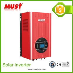 MUST DC 48V to AC 220V Easy installation hybrid solar inverter with AC input protect