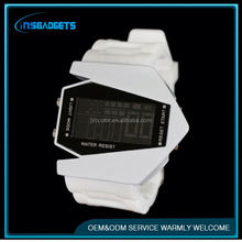 analog digital sport watch ,H0T225 silicone sport mirror led watch hot , silicon sports watch
