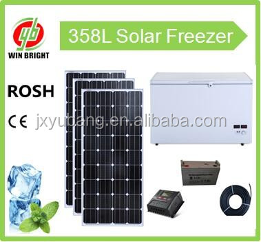 Factory price 358L Solar Freezer ice maker refrigerator cooler icebox DC12V Freezer for Africa middle east