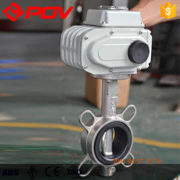 Industrial water flow control Stainless Steel butterfly valve