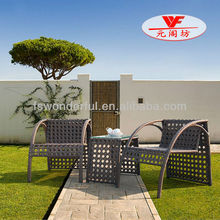 WF221-12 cafe chair, rattan table and chair, cafe table chair set