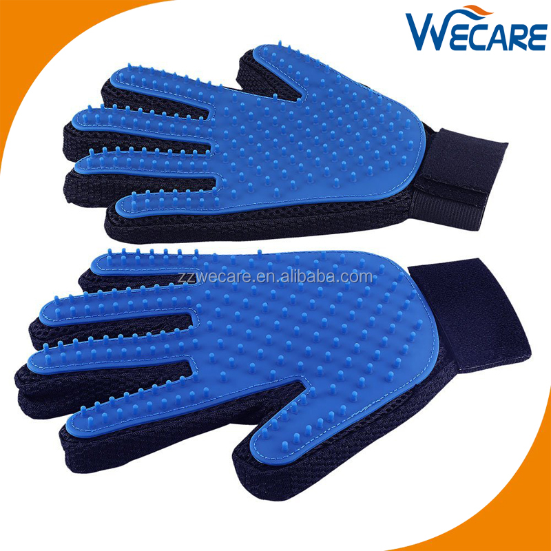 Animal Handling Horse Cat Dog Brush Bath Massage True Touch Deshedding Pet Grooming Glove