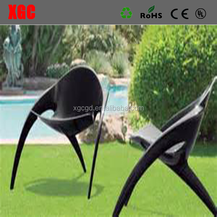 UFO Style Art Design Carbon Fiber Home Furniture 3 Legs Chairs