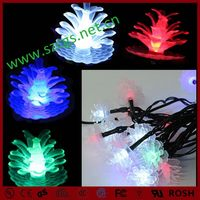 New style hot-sale solar pine cone shaped string light