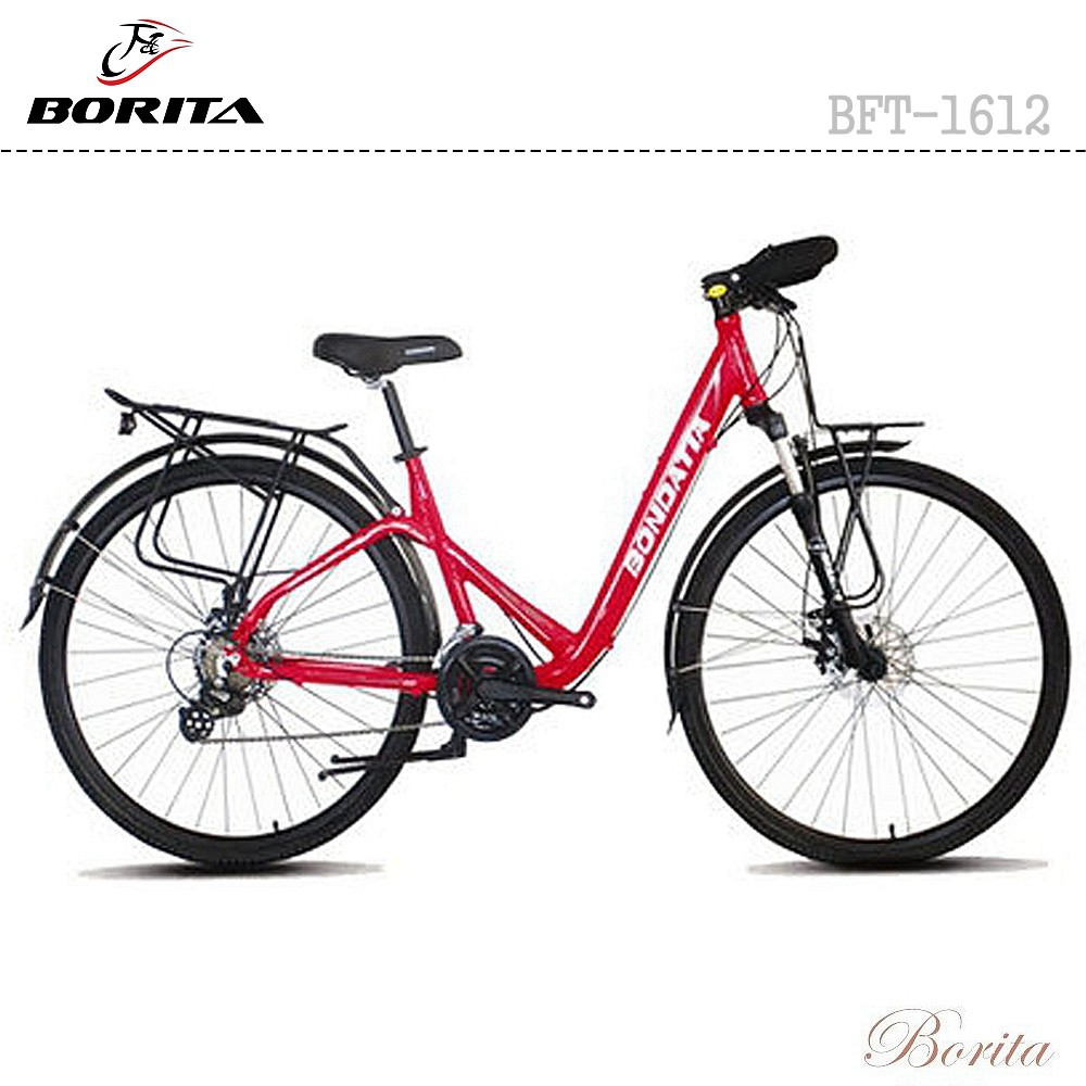 28 inch Trekking Bike Borita BFT-1612 24 Speed City Bike Retro Trekking Bike