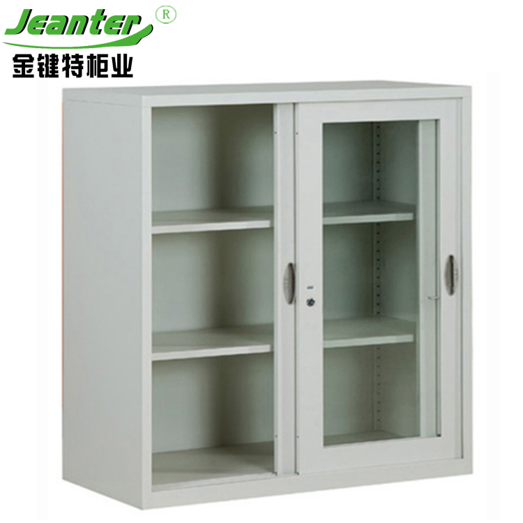 Office Steel Storage Cabinet mini locker cabinet / Half Height mini Sliding Door Cabinet