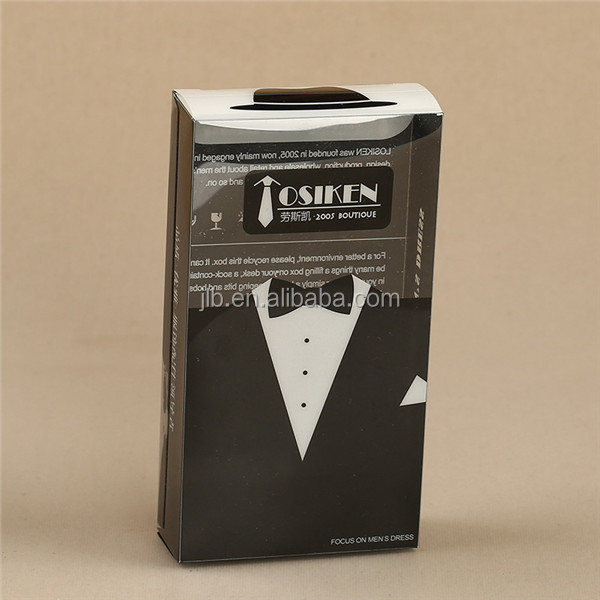 Luxury Clothing Necktie Bow Tie gift Packaging Box with paper