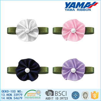 Hot sale good quality satin ribbon flowers artificial