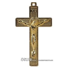 Gold Plated Jesus Cross/ Metal Crucifix