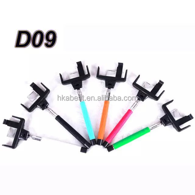 S00845 D09 Bluetooth monopod selfie stick bluetooth selfie shutter wireless with remote control for mobile phone