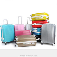 10 colors Spinner hardshell ABS PC luggage case Carry On Luggage