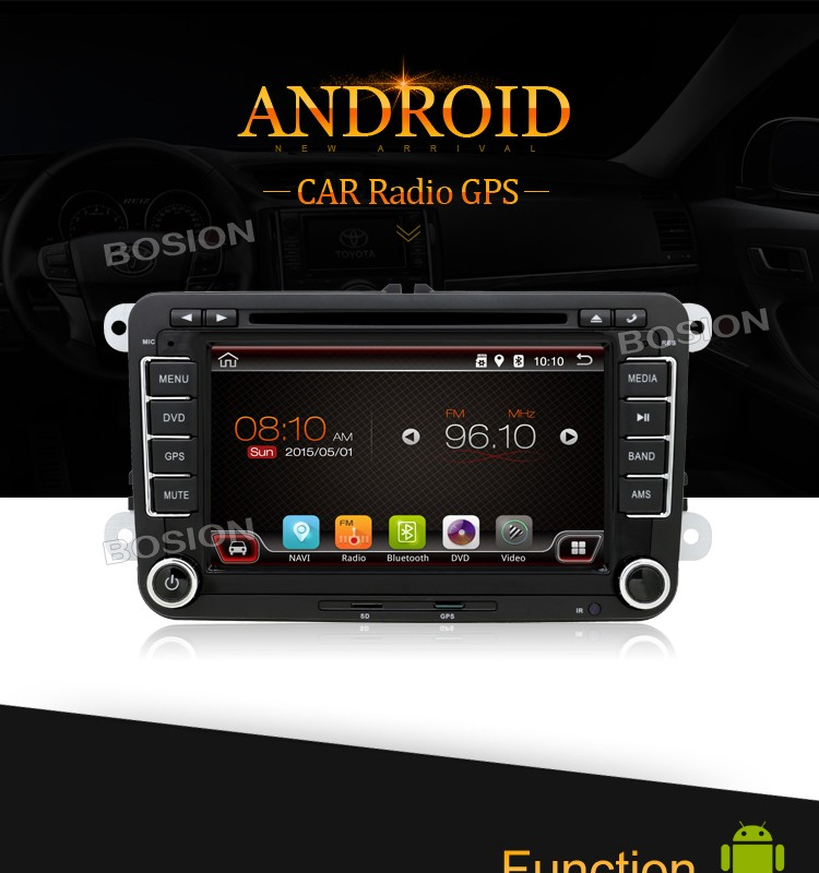 Android4.4 2 Din Car DVD Multimedia GPS Player for VW Golf 5 MK3 and Passat B6